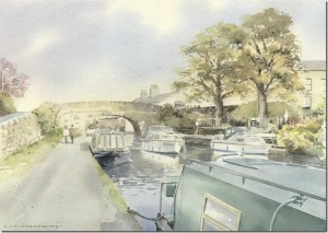 Canal boats at hestbank by colin pickering