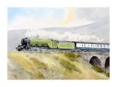Flying Scotsman Leaving Ribblehead Viaduct